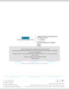 Inteligencia Artificial. Revista Iberoamericana de Inteligencia Artificial ISSN:
