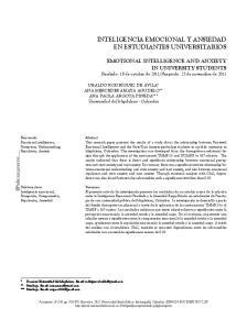 INTELIGENCIA EMOCIONAL Y ANSIEDAD EN ESTUDIANTES UNIVERSITARIOS