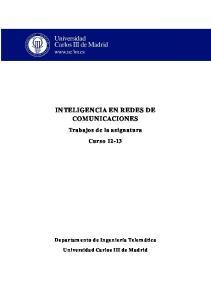 INTELIGENCIA EN REDES DE COMUNICACIONES