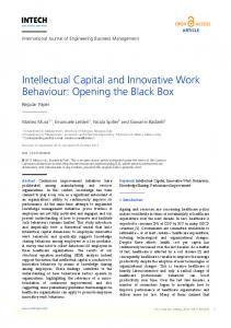 Intellectual Capital and Innovative Work Behaviour: Opening the Black Box
