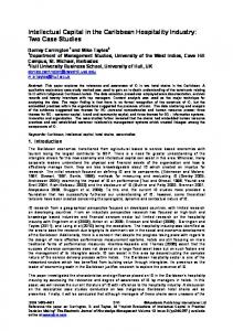 Intellectual Capital in the Caribbean Hospitality Industry: Two Case Studies