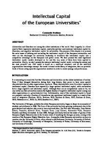 Intellectual Capital of the European Universities *