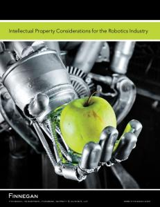 Intellectual Property Considerations for the Robotics Industry