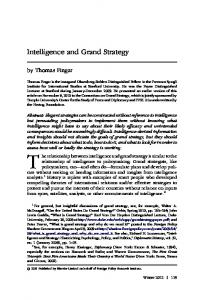 Intelligence and Grand Strategy