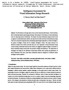 Intelligence Assessment for Visual Information Design Research
