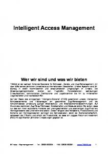 Intelligent Access Management
