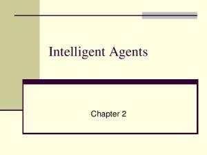 Intelligent Agents. Chapter 2
