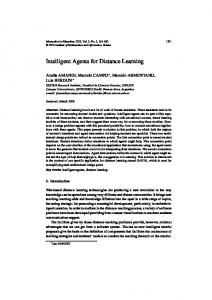 Intelligent Agents for Distance Learning