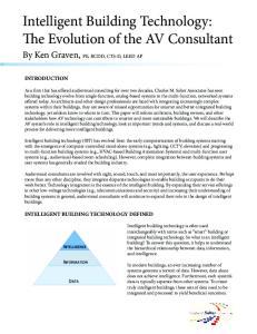 Intelligent Building Technology: The Evolution of the AV Consultant