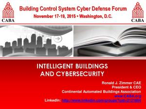 INTELLIGENT BUILDINGS AND CYBERSECURITY