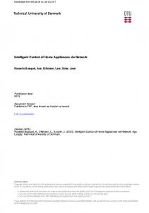 Intelligent Control of Home Appliances via Network