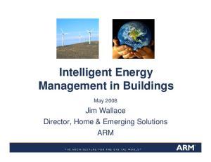 Intelligent Energy Management in Buildings