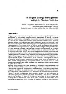 Intelligent Energy Management in Hybrid Electric Vehicles