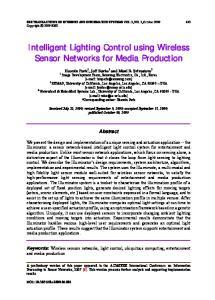 Intelligent Lighting Control using Wireless Sensor Networks for Media Production