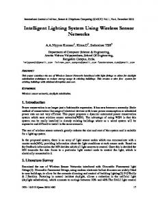Intelligent Lighting System Using Wireless Sensor Networks