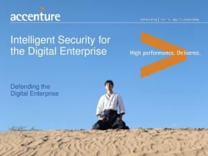 Intelligent Security for the Digital Enterprise. Defending the Digital Enterprise