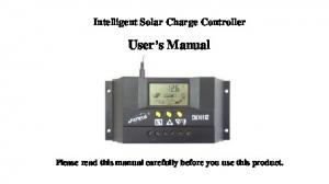 Intelligent Solar Charge Controller. User s Manual. Please read this manual carefully before you use this product