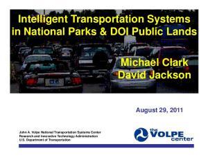 Intelligent Transportation Systems in National Parks & DOI Public Lands