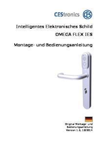 Intelligentes Elektronisches Schild OMEGA FLEX IES. Montage- und Bedienungsanleitung
