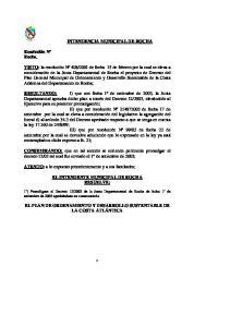 INTENDENCIA MUNICIPAL DE ROCHA