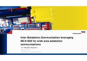 Inter-Substation Communication leveraging IEC for wide area substation communications