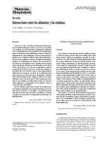 Interacciones entre los alimentos y las estatinas