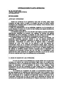 INTERACCIONES PLANTA-HERBICIDA