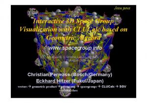 Interactive 3D Space Group Visualization with CLUCalc based on Geometric Algebra