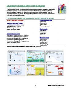 Interactive Physics 2005 New Features