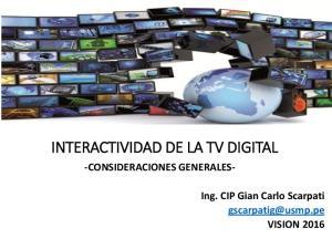 INTERACTIVIDAD DE LA TV DIGITAL