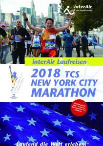 interair Laufreisen 2018 TCS NEW YORK CITY MARATHON Laufend die Welt erleben!
