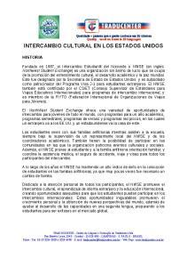 INTERCAMBIO CULTURAL EN LOS ESTADOS UNIDOS