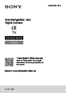 Interchangeable Lens Digital Camera