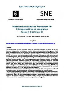 Intercloud Architecture Framework for Interoperability and Integration
