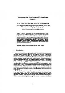 Interconnecting Containers by Wireless Sensor Network