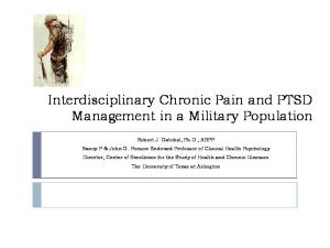 Interdisciplinary Chronic Pain and PTSD Management in a Military Population