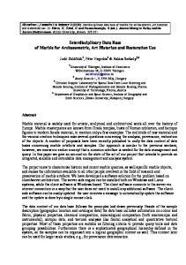Interdisciplinary Data Base of Marble for Archaeometric, Art Historian and Restoration Use