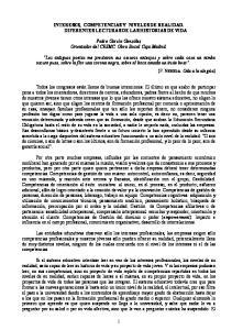 INTERESES, COMPETENCIAS Y NIVELES DE REALIDAD. DIFERENTES LECTURAS DE LAS HISTORIAS DE VIDA