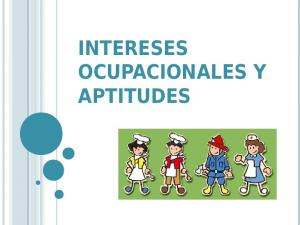 INTERESES OCUPACIONALES Y APTITUDES
