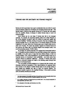 Interest rate risk and bank net interest margins 1