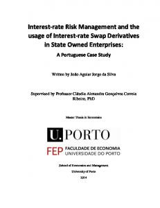 Interest-rate Risk Management and the usage of Interest-rate Swap Derivatives in State Owned Enterprises: