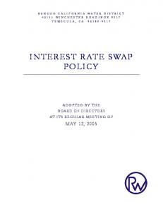 INTEREST RATE SWAP POLICY