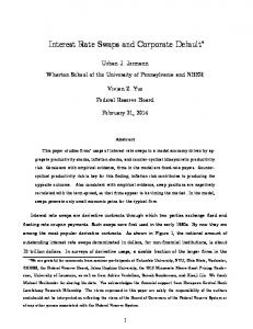 Interest Rate Swaps and Corporate Default