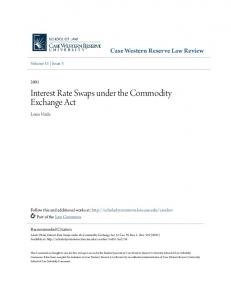 Interest Rate Swaps under the Commodity Exchange Act
