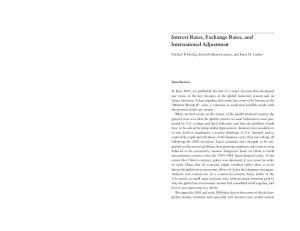 Interest Rates, Exchange Rates, and International Adjustment