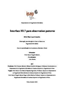 Interface HL7 para observation patterns