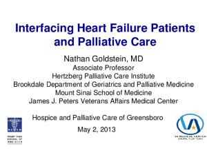 Interfacing Heart Failure Patients and Palliative Care