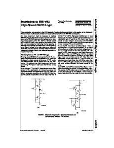 Interfacing to MM74HC High-Speed CMOS Logic