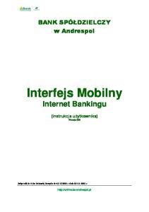 Interfejs Mobilny Internet Bankingu