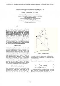 Interferometry process for satellite images SAR